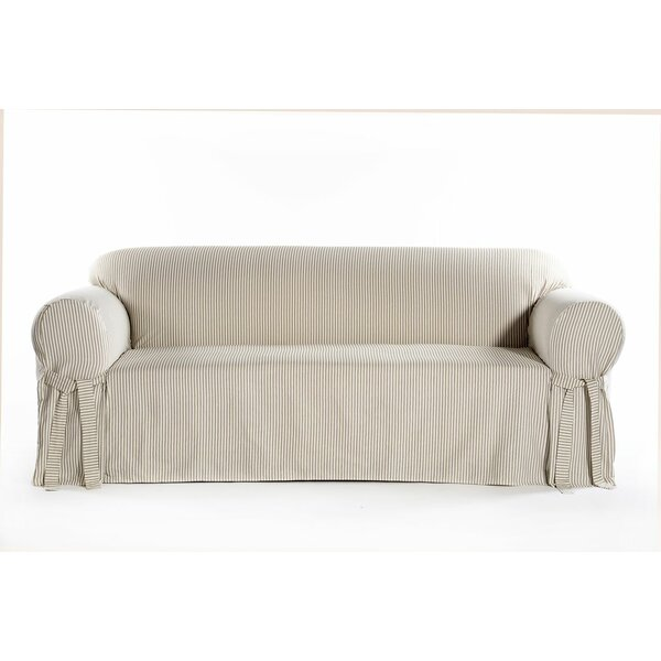 Box Cushion Sofa Slipcover by August Grove