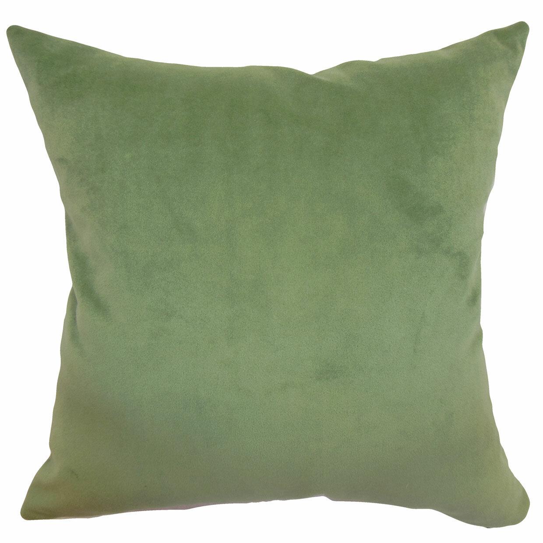 The Pillow Collection Generys Plain Velvet Throw Pillow Wayfair