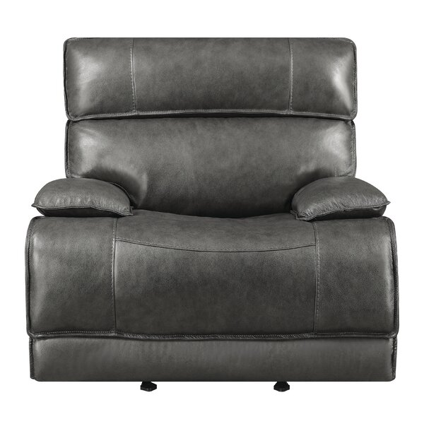 Nichol Leather Power Wall Hugger Recliner [Red Barrel Studio]