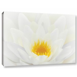 White Waterlily Photographic Print on Wrapped Canvas by Alcott Hill