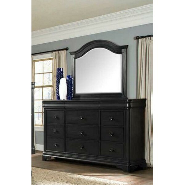 Camborne 9 Drawer Double Dresser with Mirror by Canora Grey