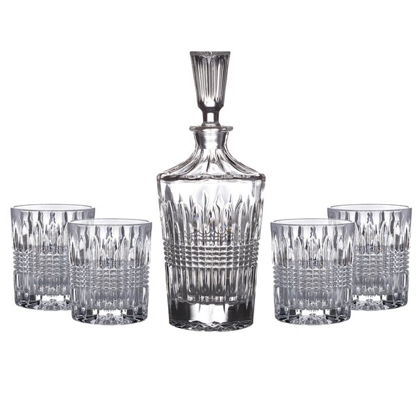Danbury 5 Piece Crystal Snifter/Liqueur Glass Set by Fitz and Floyd