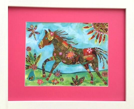 Miss Pony Framed Art by Serious Whimsey