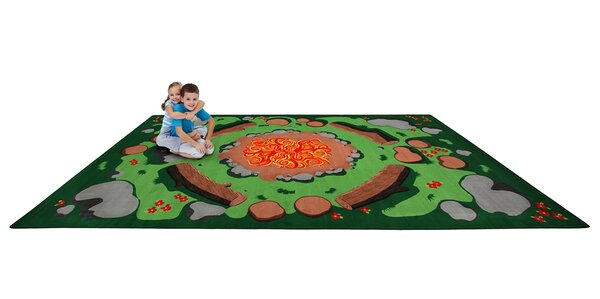 Campfire Playtime Kids Area Rug by Kid Carpet