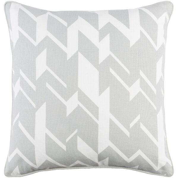 Antonia Geometric Square Cotton Throw Pillow by Langley Street