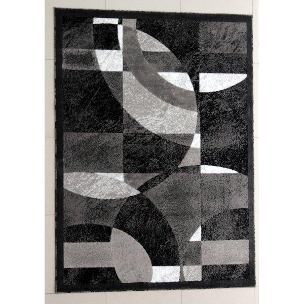 Grayson Black Area Rug by Ebern Designs