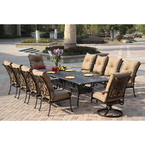 Elegant Lanesville 11 Piece Dining Set With Cushions Part 23