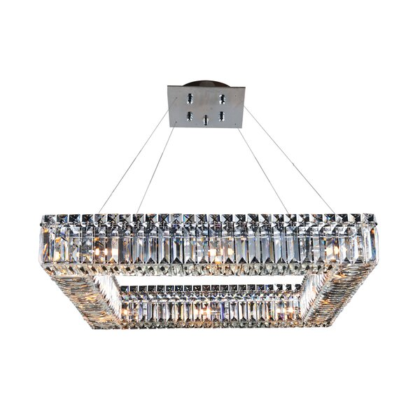 Riesel 12-Light Unique / Statement Square / Rectangle Chandelier by Everly Quinn Everly Quinn