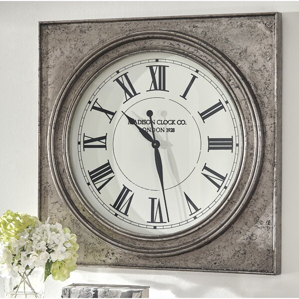 Oversized Geraldo 32 Wall Clock by Darby Home Co
