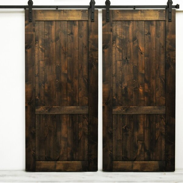 Woodbury Wood 2 Panel Interior Barn Door by August Grove