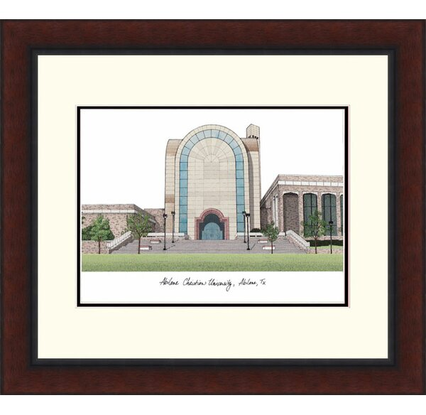 NCAA Abilene Christian University Legacy Alumnus Lithograph Framed Photographic Print by Campus Images