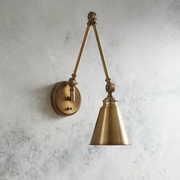Waucoba 1-Light Swing Arm Lamp by Trent Austin Design