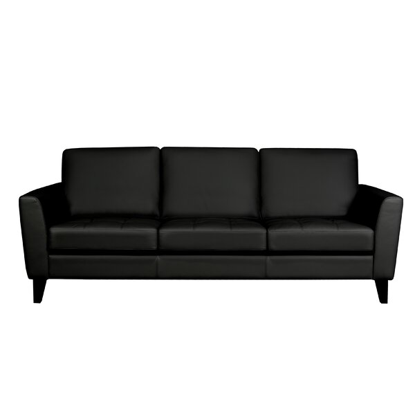 Brunet Leather Sofa by Brayden Studio