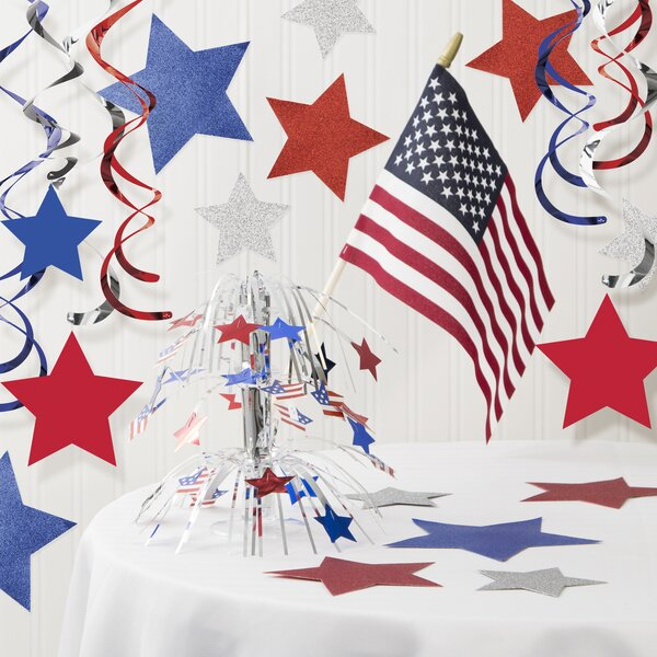 Patriotic Paper Decoration Kit by The Holiday Aisle
