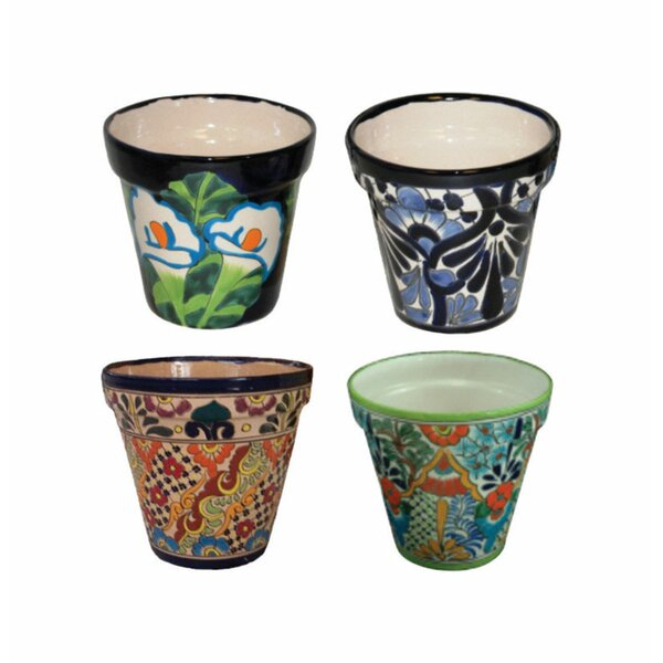 Mansfield 4-Piece Clay Pot Planter Set by World Menagerie