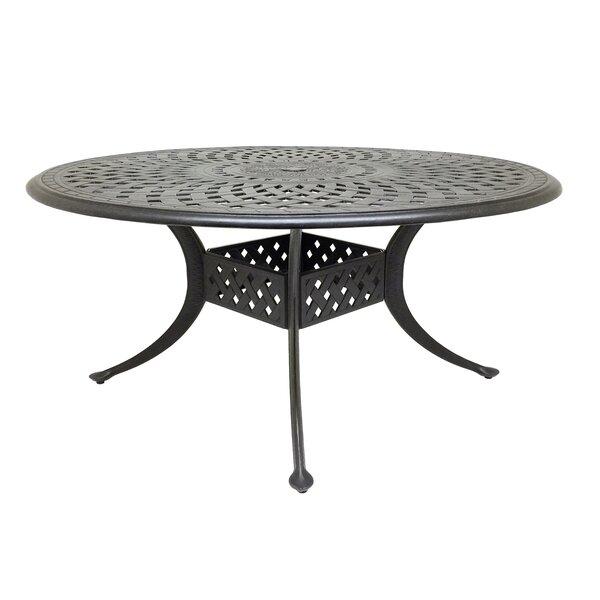 Campion Cast Aluminum Dining Table by Fleur De Lis Living