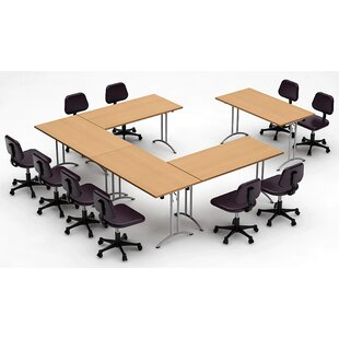 Meeting Seminar 5 Piece Rectangular 30H x 120W x 150L Conference Table Set By Team Tables