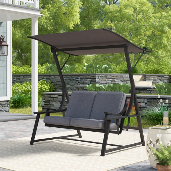 Marquette Glider Porch Swing with Stand by Andover Mills