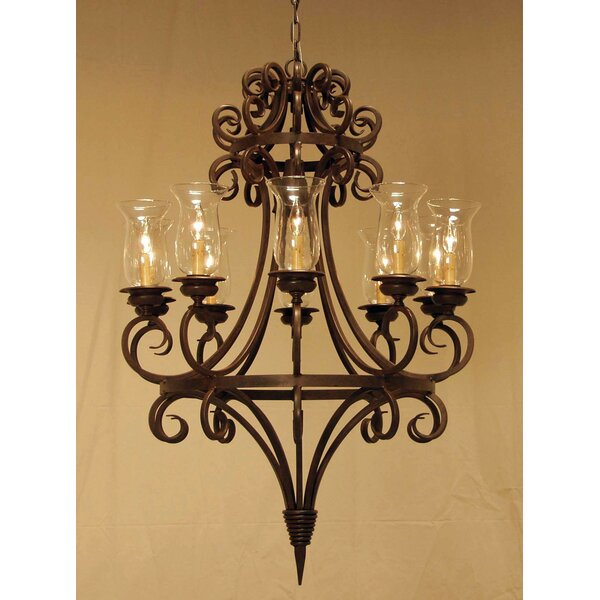 10 - Light Shaded Wagon Wheel Chandelier by 2nd Ave Design 2nd Ave Design