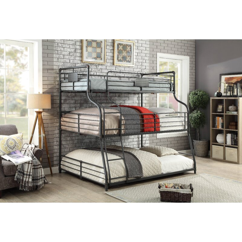 Prather Twin Over Full Queen Triple Bunk Bed