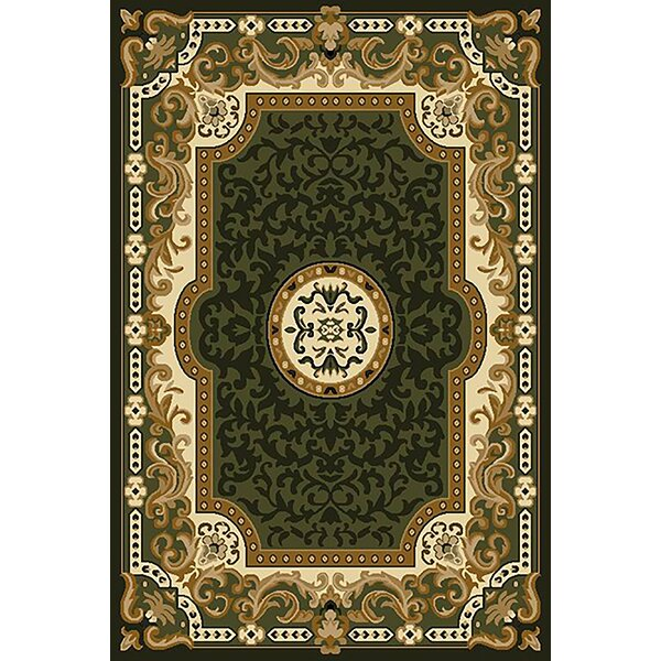 Riche Green Area Rug by Astoria Grand