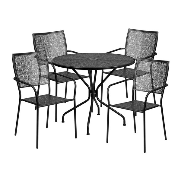 Speers Outdoor Steel 5 Piece Dining Set by Winston Porter