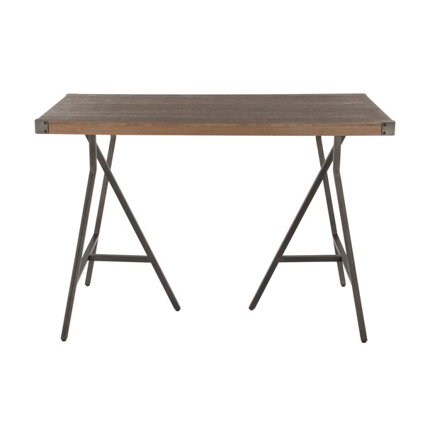 Bond Trestle Industrial Counter Height Dining Table by Williston Forge