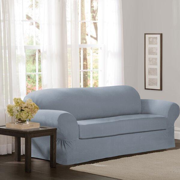 Box Cushion Sofa Slipcover (Set of 2) by Red Barrel Studio