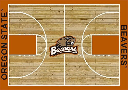 NCAA College Home Court Oregon State Novelty Rug by My Team by Milliken
