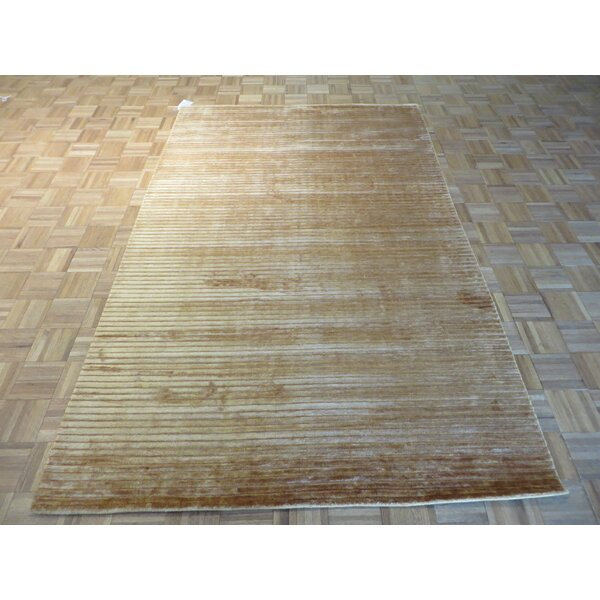 One-of-a-Kind Elbridge Hand-Knotted Brown Area Rug by Red Barrel Studio