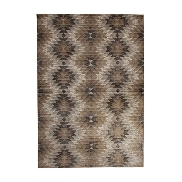 Foulds Machine Woven Synthetic Brown/Ivory Indoor Area Rug by Brayden Studio
