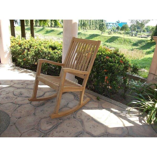Malave Grade-A Kingston Teak Rocking Chair by Highland Dunes