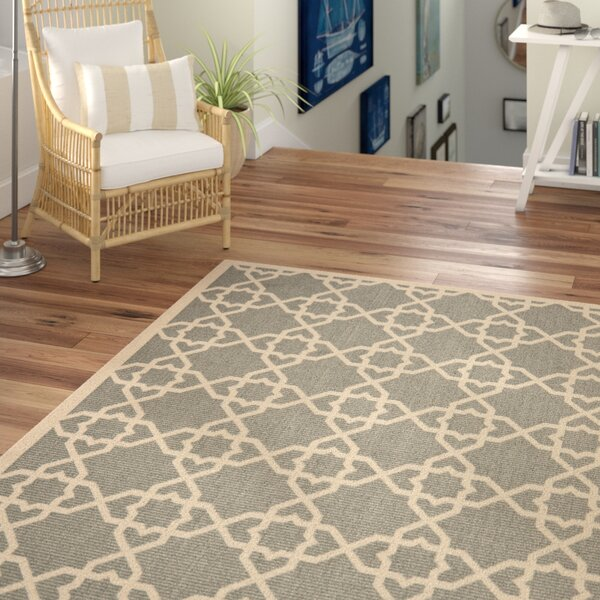 Ceri Black/Gray Indoor/Outdoor Area Rug by Beachcrest Home
