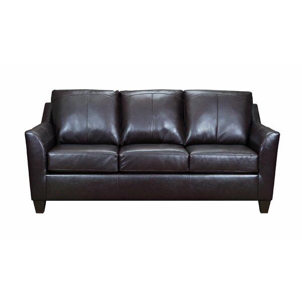 Cyrus Leather Sofa By Latitude Run