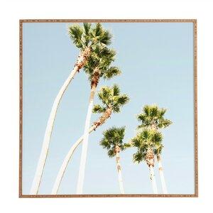 Beach Palms Framed Wall Art by East Urban Home