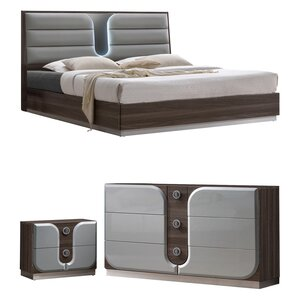 Anshul Modern Wood Platform Configurable Bedroom Set by Orren Ellis