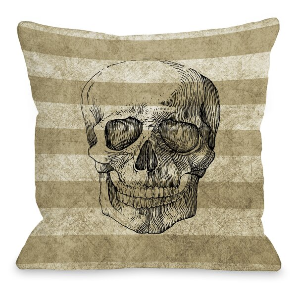 Skelly Stripe Throw Pillow by One Bella Casa