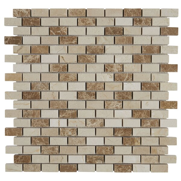 Benson Brick Joint 12 x 12 Marble Mosaic Tile in Adda Blend by Itona Tile