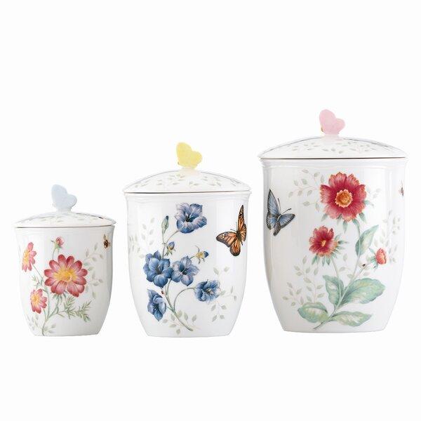 Butterfly Meadow 3 Piece Storage Jar Set by Lenox