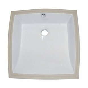 Reviews Cove Ceramic Square Undermount Bathroom Sink with Overflow ByElements of Design
