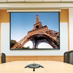 Check Prices Baronet White Electric Projection Screen By Draper