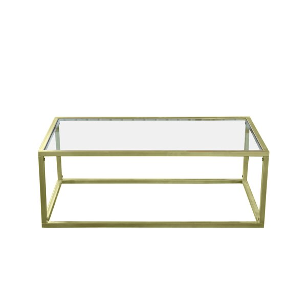Colbourne Gilt Coffee Table by Everly Quinn