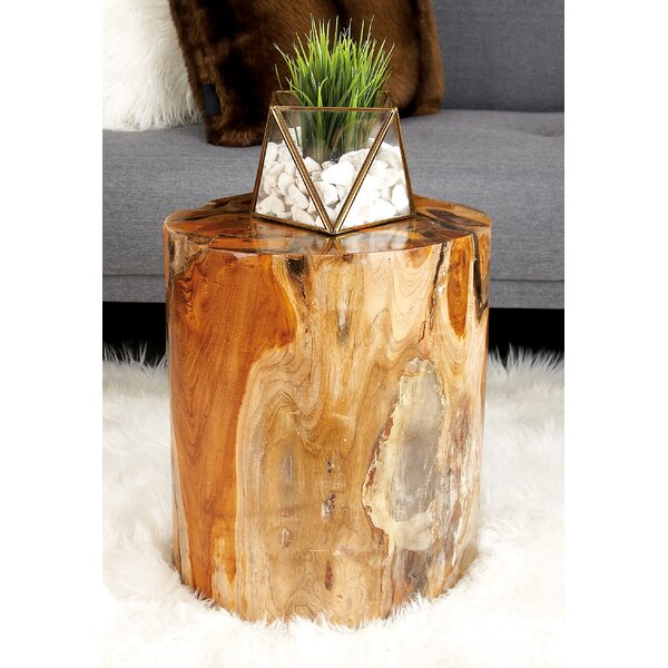 Teak Wood and Resin Stool by Cole & Grey