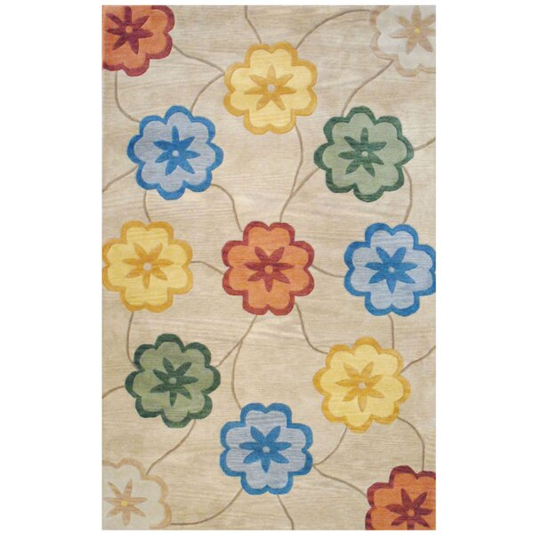 Hand-Tufted Beige/Gold Area Rug by Herat Oriental
