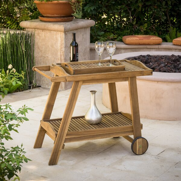 Antonetta Bar Serving Cart by Bay Isle Home