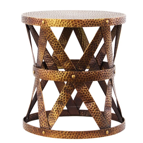 Metal Round Accent Stool by Urban Trends