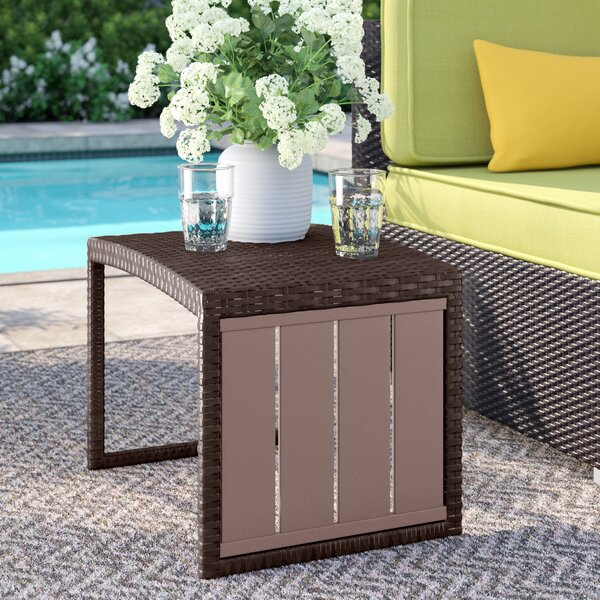 Teganm Wicker Side Table by Sol 72 Outdoor