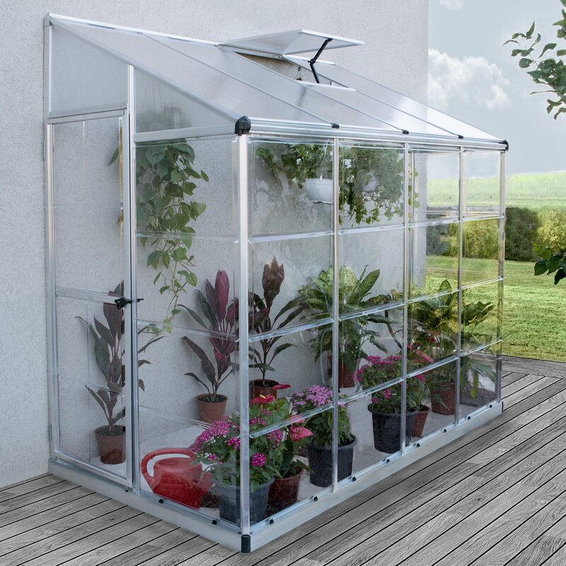 nature 4 ft w x 8 ft d leanto greenhouse
