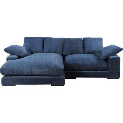 Super Mistana Blaze Reversible Sectional Upholstery Color Blue Dailytribune Chair Design For Home Dailytribuneorg