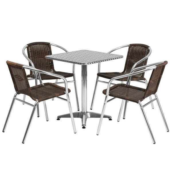 Cathlene Square 5 Piece Dining Set by Wade Logan